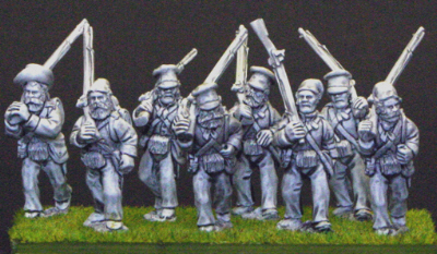 British infantry marching