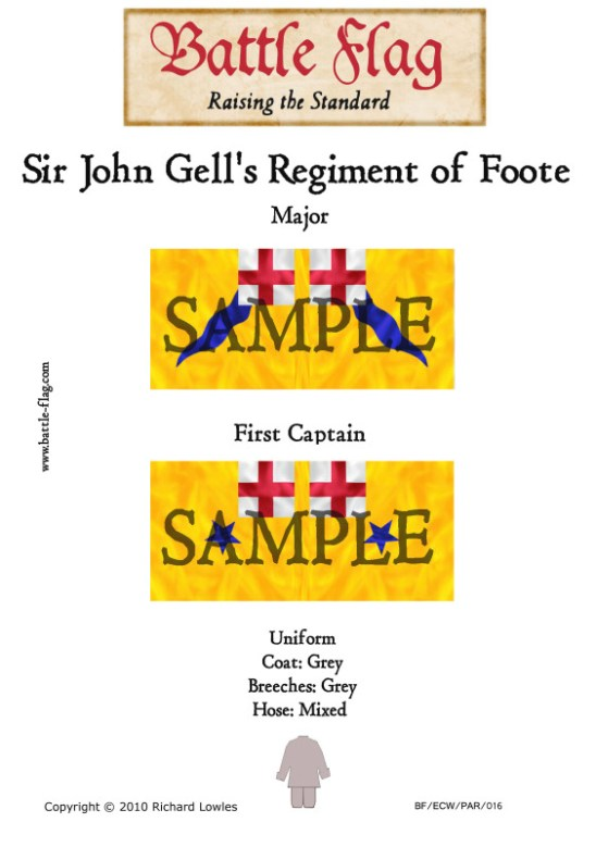 ECW/PAR/018 (B) Sir John Gell's Regiment of Foote