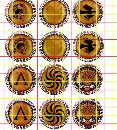 Mixed Early Greek Shield Greek Key Rim Rim (III)