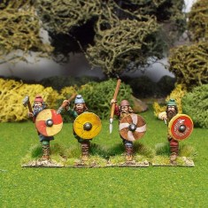 28mm early saxon duguth shieldwall wearing caps