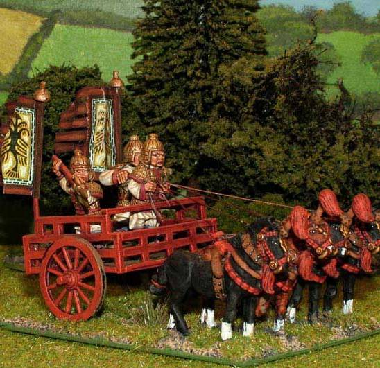 28mm han chinese 4 horse heavy chariot.