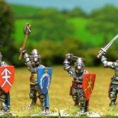 28mm late medieval Dismounted knights 1