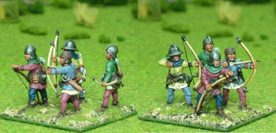 28mm late medieval Longbow men II