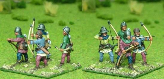 28mm late medieval Longbow men II