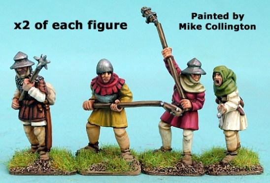 28mm late medieval Hussite polearm men I