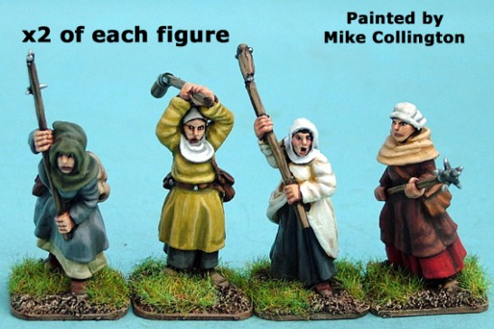 28mm late medieval Hussite Women with Polearms II