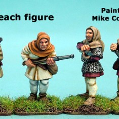 28mm late medieval Hussite Hand Gunners I