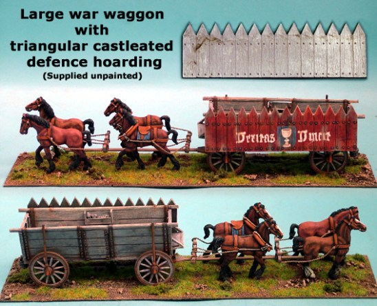 Large War Wagon with Triangular Caselated Defence Hoarding