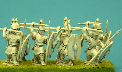 Unarmoured legionaries, Pilum.