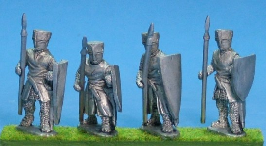 ME25 28mm Foot knights with spear 2