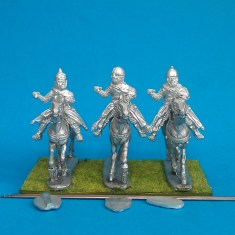 28mm Eastern Europe Mounted Knights 1, mail, lance upright, charging unbarded horses