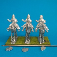 28mm Eastern Europe Mounted Knights 1, mail, lance upright, standing unbarded horses