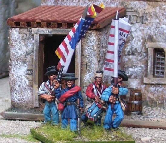 28m mexican american war United States Volunteers Command firing line