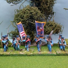 28mm mexican american war US infantry advancing or charging