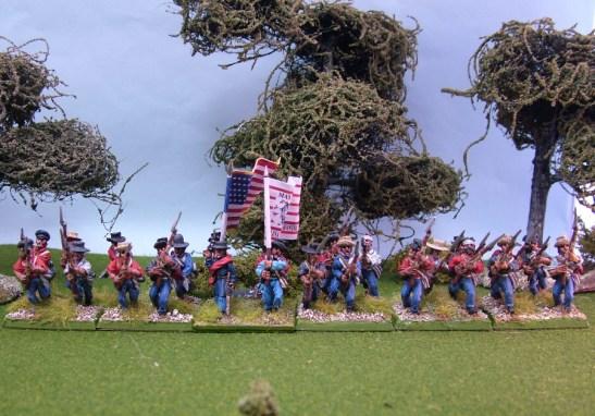 28mm mexican american war US Volunteers advancing or charging