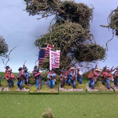 28mm mexican american war US Volunteers advancing or charging