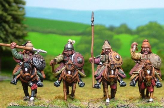 28mm Mongol Heavy cavalry on unarmoured Horses.