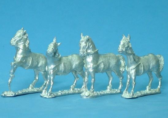 28mm standing horses