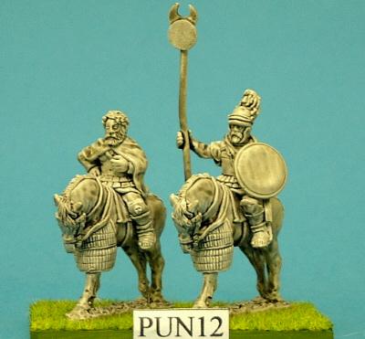 Carthaginian Hannibal & Standard Bearer Mtd