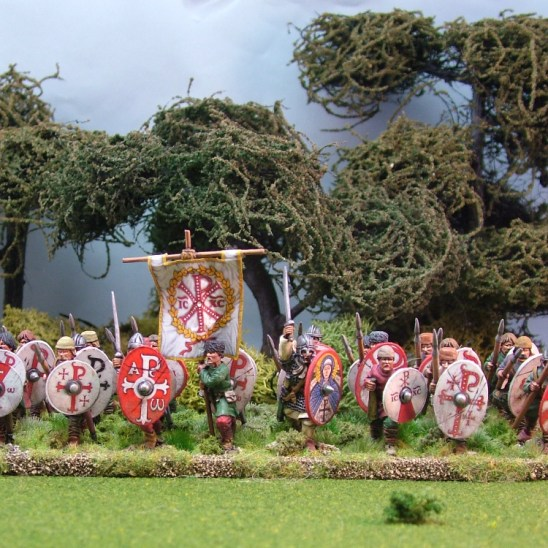 Warriors, unarmoured, advancing,spears (24)