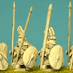 republican roman Triari kneeling,spear.
