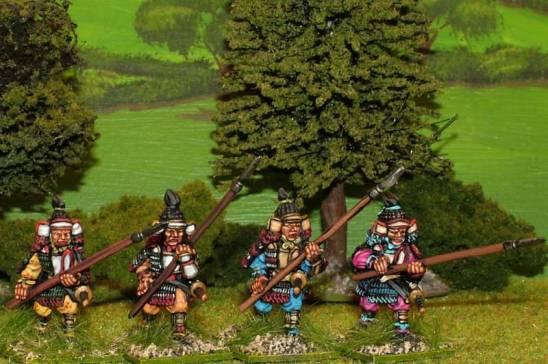 28mm Samurai with yari attacking.