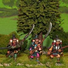 28mm Samurai with naginata attacking.
