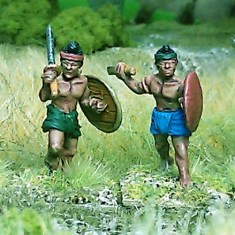 28mm burmese thai south east asian Levy swordsmen