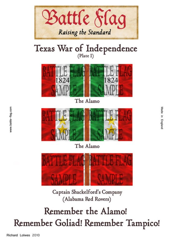 Texas War of Independence (Plate I)