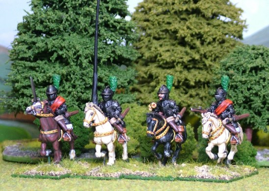 28mm thirty years war Imperialist Cuirassier command.