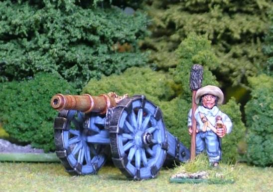 28mm thirty years war Medium Gun.
