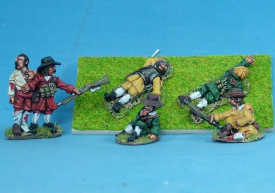 28mm Thirty years war infantry Casualties