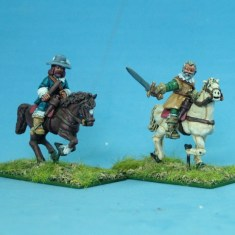28mm Thirty Years War Mounted senior officers