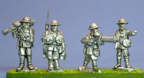 28mm ww1 British Lewis Machine Gunners. British Lewis Machine Gunners. Lewis gunners, 2 teams. 4 figures.