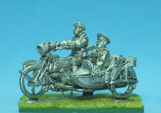 Motorbike with sidecar and Staff Officer