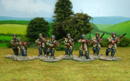 German paras with rifles.