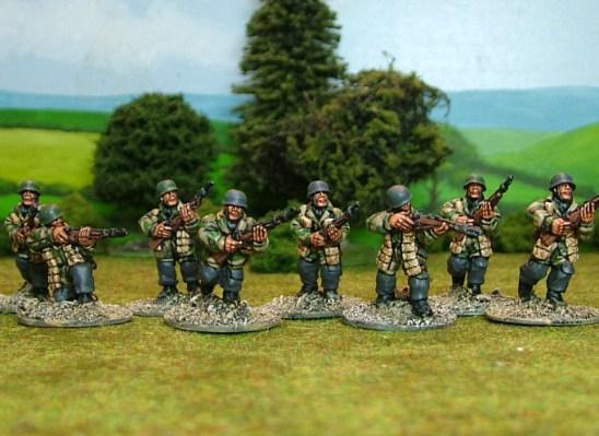 German paras with rifles.