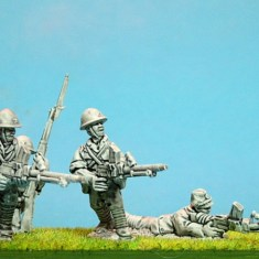 28mm ww2 Japanese infantry with type 99 light machine guns.