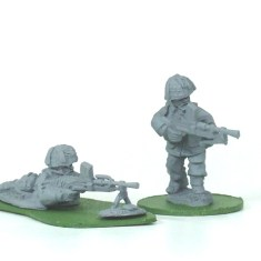 28mm British paratroops paras with bren guns.