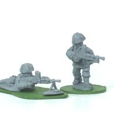 28mm British paratroops paras with bren guns.