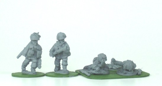 """28mm ww2 british paratroops with 2""""mortars."""