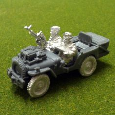 Air landed recce jeep,vickers and basket