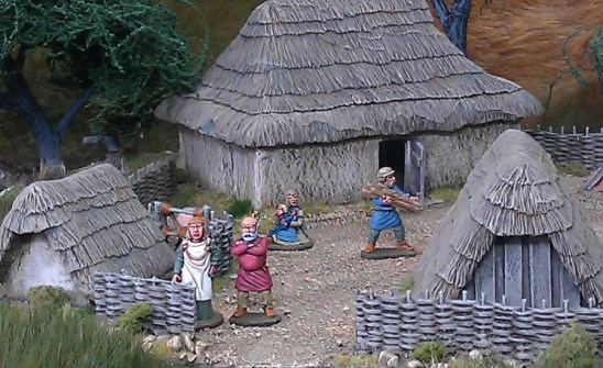 Dark Age farm,haystacks, dung heap and civilians deal.