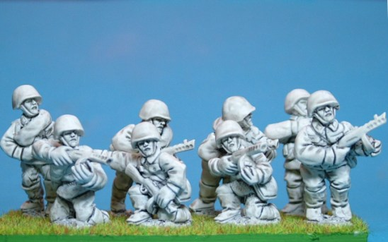 28mm Russian infantry with Sub Machine Gun.