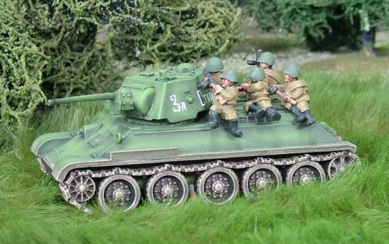 28mm ww2 russian tank riders