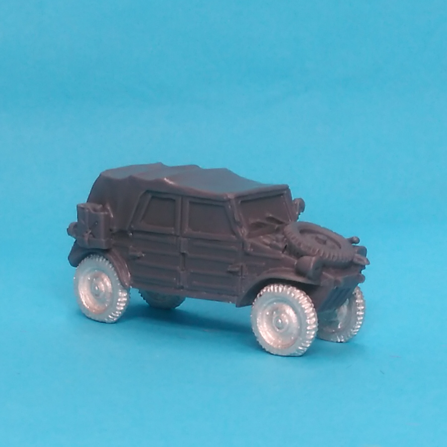 WW2GV04 Covered Kubel wagen front
