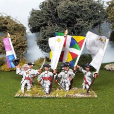 28mm Seven Years War French Infantry Command.