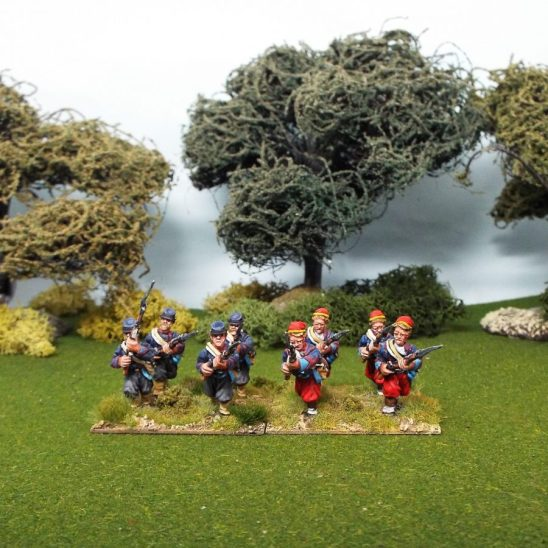 28mm american civil war union zouave miniatures