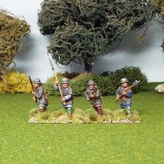 28mm medieval polearm men in mail