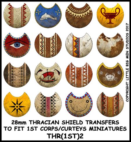 small thracian shield transfers